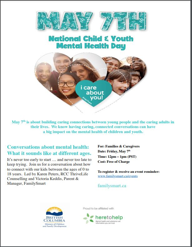 National Child & Youth Mental Health Day May 7, 2021